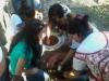 Implantação da horta - Escola Pe. Luiz Cassiano