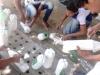 PEV promove hortas escolares com garrafas Pets recicladas