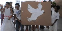 Alunos da Escola Iracema Pereira da Paixao (Juazeiro-BA) apresentam peca e desenhos sobre o meio ambiente (17-10-2012)