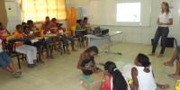 Palestra e oficina de produçao de Papa-pilhas - Escola Leopoldina Leal - Juazeiro-BA (18-10-2012)