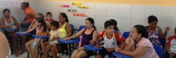Reunião com pais e alunos para apresentação do PEV na Escola Dinorah Albernaz  - Juazeiro-BA - 16-08-2013