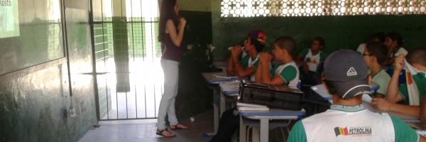 Aula sobre Marketing pessoal X Higiene pessoal na Escola Jacob Ferreira, Petrolina-PE - 27.11.13