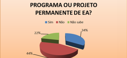 Gráfico 7. Distribuição percentual da Existência de Projetos Permanentes de EA. Todos os níveis - Petrolina-PE e Juazeiro-BA