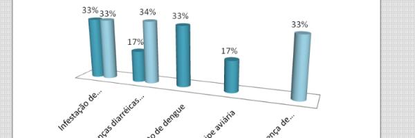 Gráfico 22. Distribuição percentual do tipo de problema de saúde pública enfrentado pela escola. Todos os níveis