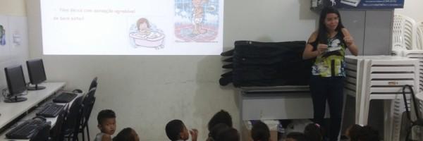 Palestra sobre higiene ambiental - Escola Municipal Joca de Souza - Juazeiro-BA - 24.07.15