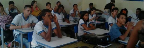 Palestra sobre horta sustentável - Escola João Barracão - Petrolina-PE - 29.06.15